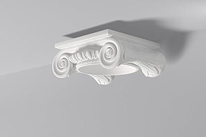 Capitel para columna decorativa Domostyl DCI3 Nmc / Columna poliuretano / Pilar / Moldura poliuretano /