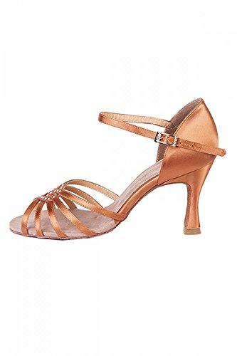 Tan Daisy Diamante Ballroom Ballroom Electric Shoes 4qTHCO8