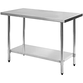 giantex stainless steel work prep table commercial kitchen restaurant 24 x 48 - Kitchen Prep Table Stainless Steel