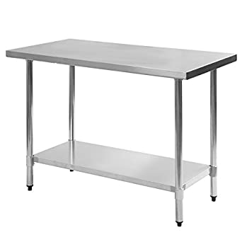 Amazon Com Stainless Kitchen Work Prep Table Size 24 X 48 W