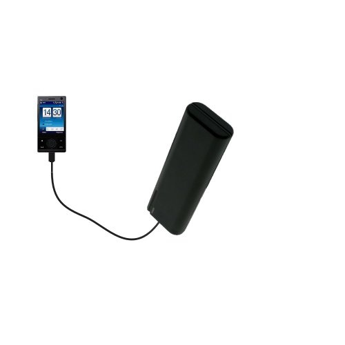 Gomadic Portable AA Battery Pack designed for the O2 Ignito - Powered by 4 X AA Batteries to provide Emergency charge. Built using TipExchange Technology - O2 Pda Battery