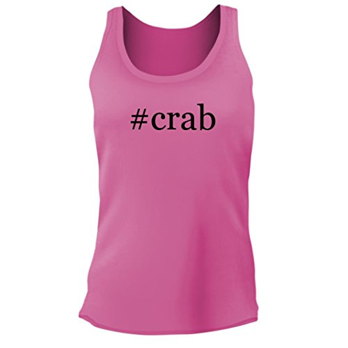 (Tracy Gifts #Crab - Women's Junior Cut Hashtag Adult Tank Top, Pink, Large)