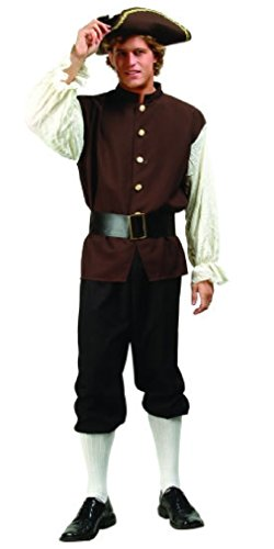 OvedcRay Colonial Adult Man Costume John Adams Colonial Us History Play Costumes