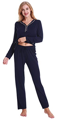 Pajamas Women's Long Sleeve Sleepwear Soft Pj Set