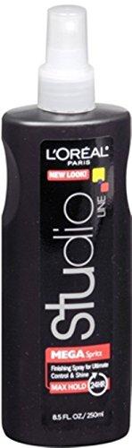 L'Oréal Paris Studio Line Mega Spritz Hairspray, 8.5 fl. oz. (Pack of 12)