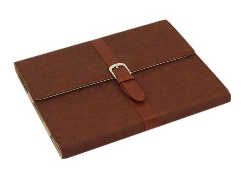 HELPYOU Brown ipad Mini New Classic Retro Belt Buckle Design Flip Leather Stand Case Protective Cover for Apple ipad Mini -