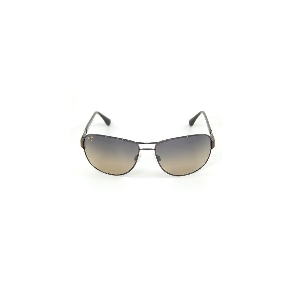 New Maui Jim Sand Island HS253 25A Gloss Dark Brown/HCL Bronze Polarized Sunglasses Clothing