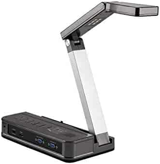eloam Portable Document Camera HDMI, VGA Port, OCR Visual Presenter for Office,School,Meeting,Training, Labs Presentation