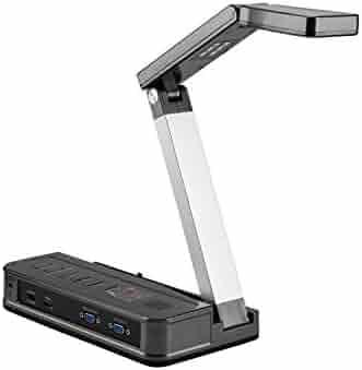 Eloam Portable Document Camera HDMI, VGA Port, OCR Visual Presenter for Office,School,Meeting,Training, Labs Presentation