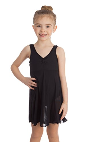 - Elowel Kids Girls Empire Leotard Ballet skirted Dress Black Size 6-8