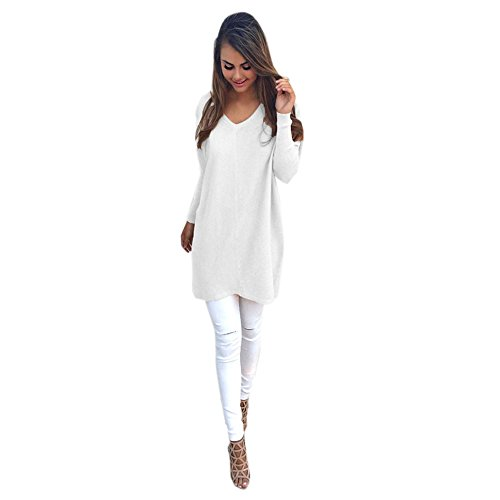 Kinghard Womens Casual Long Sleeve Jumper Sweaters Coat (M)