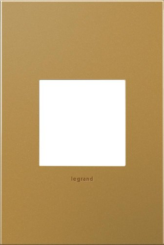 adorne 1-Gang Satin Bronze Wall Plate