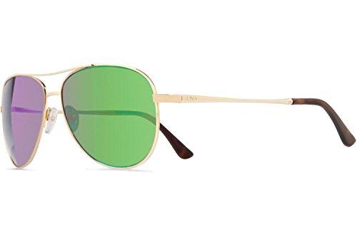 Revo Relay Sunglasses, Gold Frame, Green Water, 59mm Lenses, part of the Global Fit - Green Light Sunglasses