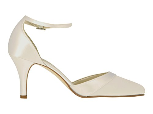 Femme Ivory Bride Coloured Cheville Shoes Elsa 4XOIqvC