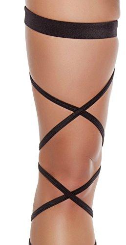 Edc Costumes Ideas (Black Solid Leg Wraps)