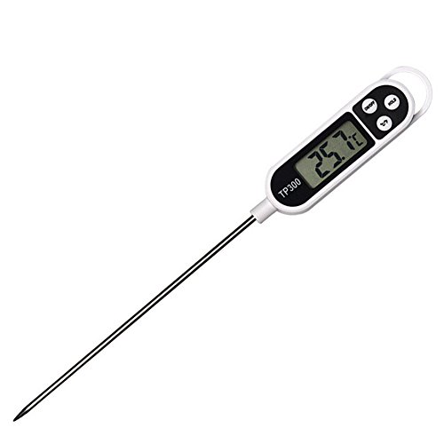 Digital Meat Thermometer with LCD Screen Instant Read & Super Long Probe for Kitchen Cooking Fry Food Outdoor BBQ Grilling Smoker Milk Candy