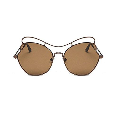 Aoligei Verres en forme de coeur coeur Chao Mans soleil miroir amour grandes en forme de coeur lunettes de lunettes de soleil S6nyucMc