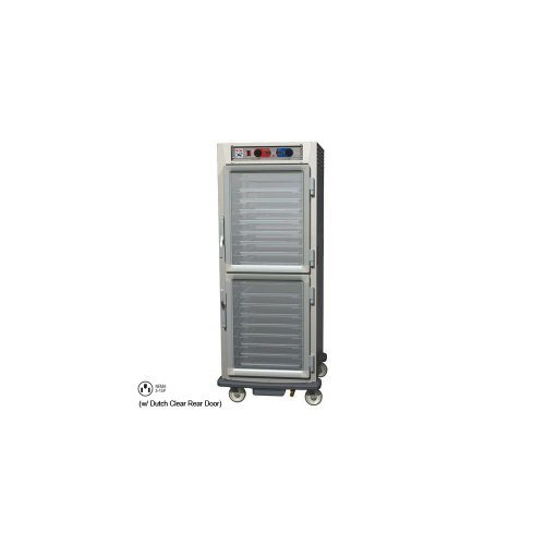 - Metro C599L-SDC-UPDC C5 9 Series Pass-Thru Heated Holding Cabinet, Full Height, Stainless Steel, Dutch Clear Doors/Dutch Clear Doors, Universal Wire Slides