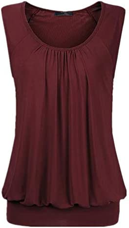 SALEBLOUSE Damen Große Größe Falten Kurzarm T-Shirt Kurzarmshirt Rundhals Stretch Tunika Damen T-Shirt Lässig...