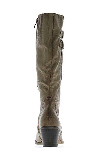 Stiefel Frauen Taupe Ferse 6cm