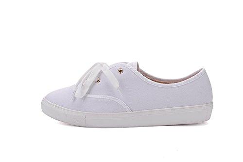 Mila Dam Blythe Kvinnor Canvas Floral Snörning Platt Sneaker Vit