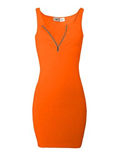 Mini Bodycon Dress Zip Women TAM Tangerine Tee WARE pEwqzqCxI