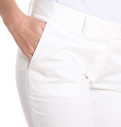 Blanco Meme 3322papavero03 Algodon Pantalón Mujer 6vn1nxz
