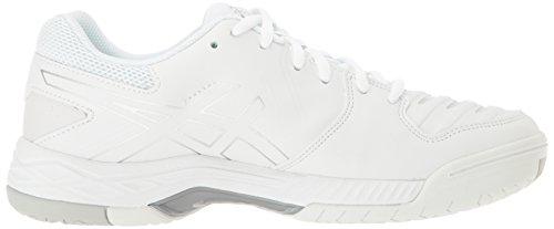 Asics Femmes Gel-jeu 6 Chaussure De Tennis Blanc / Argent