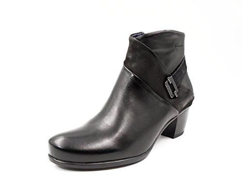 Fluchos Botin mujer Dorking Piel color negro, tacón grueso - 7261-82 Negro