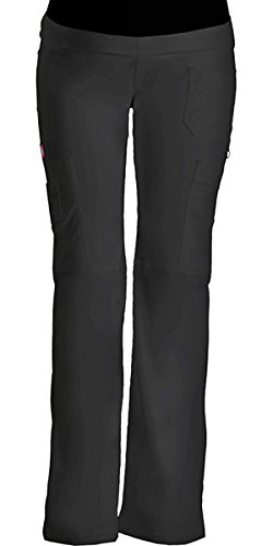 Gen Flex by Dickies Women's Maternity Knit Waist Scrub Pant Large Black