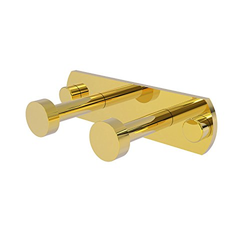 Allied Brass FR-20-2-PB Fresno Collection 2 Position Multi Hook Polished Brass