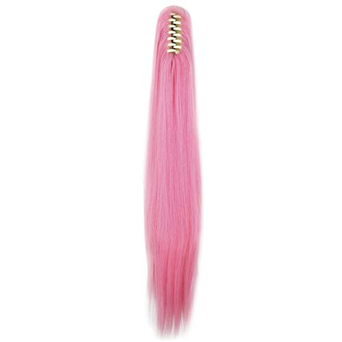 Miss U Hair Long Straight Pink Cosplay Wig Claw Ponytail for Kids and Adult (Pink) (My Little Pony Princess Luna Halloween Costume)