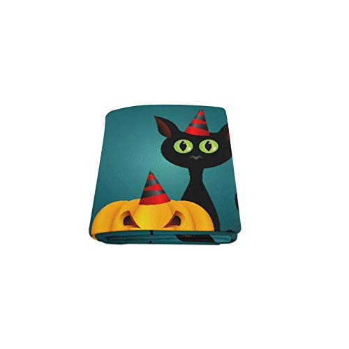 Lexav Black Cat Witches for Halloween Custom Winter Lightweighted Comfortable Fur Fuzzy Super Soft Fleece Couch Sofa and Bed Throw Blanket for Baby Women Size 40x50 Inch Machine Washable -