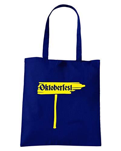 Navy Blu Speed Borsa Shirt SIGN OKTOBERFEST Shopper BEER0093 wxxCItqTS
