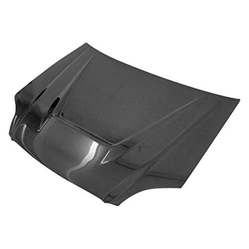 VIS Racing (VIS-DJX-584) Invader Style Hood Carbon Fiber - Compatible for Honda Civic 1996-1998 (1996 1997 1998 | 96 97 98)
