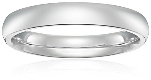 Standard Comfort Fit Platinum Gold Wedding Band, 4mm