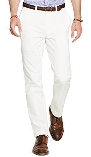 Polo Ralph Lauren Men's Classic Fit Flat Front Chino Pants-W-32x32L (Pants White Ralph Lauren)