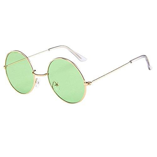 Retro Circle Frame Sunglasses Vintage Glasses Unisex Fashion Eyewear for Women Men ()