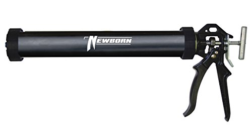 Newborn 620AL-BLACK Round Rod Gun with Aluminum Barrel, 18:1 Thrust Ratio, 20 oz. Sausage, Black