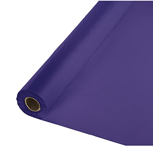(Creative Converting Roll Plastic Table Cover, 100-Feet, Purple - 013016)