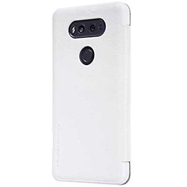 online retailer 9604e 0e021 Nillkin Qin Leather Case for LG V20 - White: Amazon.co.uk: Electronics