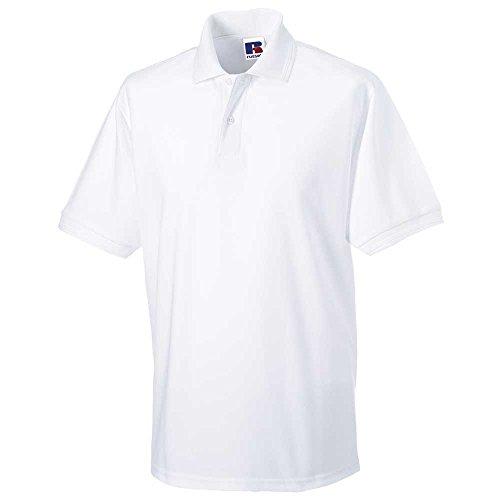 Russell CollectionHerren Poloshirt #N/A, Weiß - Weiß, 4XL - 48' - 50' Chest