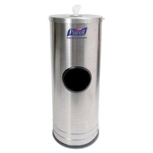 10.25 x 10.25 x 28 GOJO PURELL Dispenser Stand, Holds 1500 Wipes - BMC-GOJ 9115DS1C by Miller Supply Inc