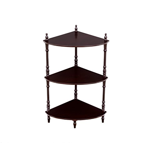 Frenchi Home Furnishing 3-Tier Corner Stand, (3 Tier Corner Stand)