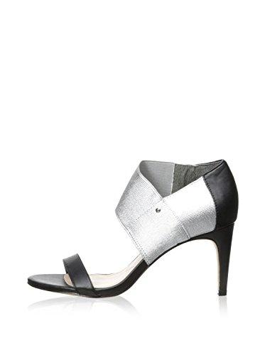 Toe Charles Open Sandals Formal Slide David by Womens Black Charles Rhonda Silver TwqqA6ZS