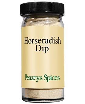 - Horseradish Dip By Penzeys Spices 2 oz 1/2 cup jar