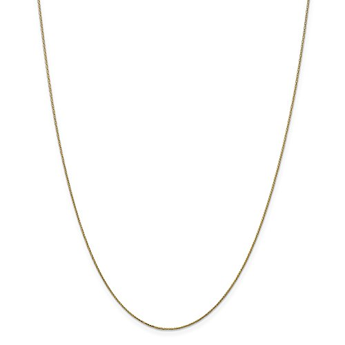 ICE CARATS 14k Yellow Gold 0.65mm Spiga Pendant Chain Necklace 18 Inch Wheat Fine Jewelry Gift Set For Women Heart 14k Gold Designer Necklace