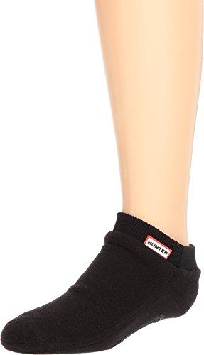 Hunter Kids Unisex Original Ankle Boot Socks Fitted (Toddler/Little Kid/Big Kid) Black X-Small