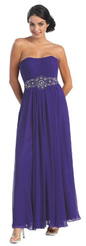 Party Dress New Designer Long Gown Sizes 16-26 #635 (24, Purple)