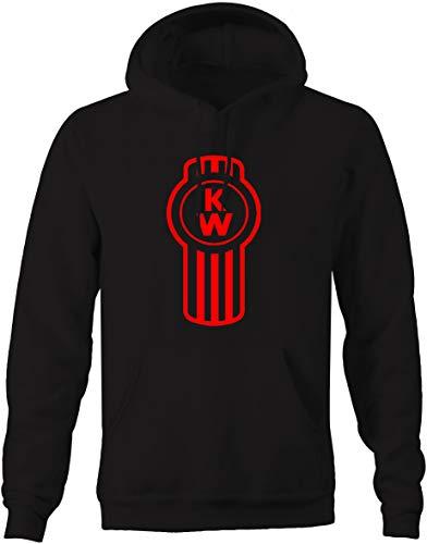 Kenworth Big Rig Semi Truck Driver Mens Sweatshirt - Large Black